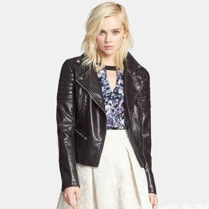 BLANKNYC Denim Quilted Faux Leather Jacket